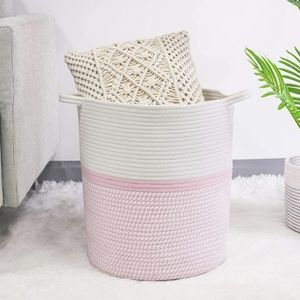 Large Cotton Rope Storage Basket Baby Laundry